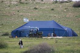 مستوطنون ينصبون خيمة على دوار كفل حارس في سلفيت