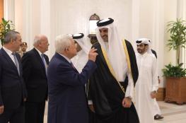 الرئيس وامير قطر يبحثان القضية الفلسطينية في الدوحة