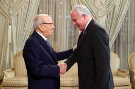 """لقاء بين وزير الخارجية والرئيس التونسي """" السبسي """""""
