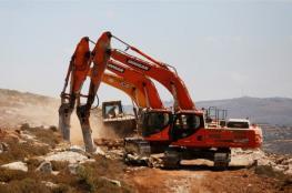 الاحتلال يجرف 15 دونما لتوسيع مستوطنة شرق قلقيلية