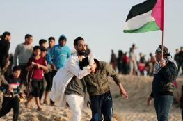 47 اصابة في صفوف المواطنين بقمع الاحتلال للمسير البحري  الـ 18