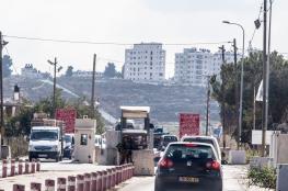 الاحتلال يغلق حاجز بيت ايل امام المواطنين في كلا الاتجاهين