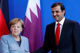 ماذا قال أمير قطر في أول اتصال من ميركل بعد غياب بلاده عن مؤتمر برلين