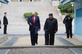 لحظات تاريخية ..ترامب يدخل اراضي  كوريا الشمالية