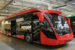أول حافلة تعمل بالطاقة الكهربائية في ابو ظبي