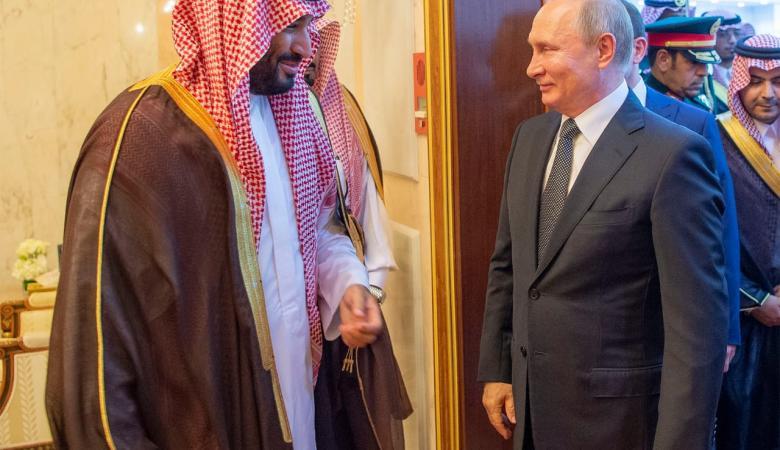 """بن سلمان يبحث مع  بوتين سبل """"تجفيف منابع الارهاب  """""""