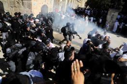 اصابات في اعتداء قوات الاحتلال على المصلين في الأقصى