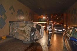 مصرع مواطن من جنين وزوجته وابنه في حادث سير مروع