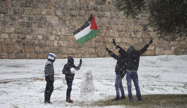 """"""" نورما  """"تضرب بقوة فلسطين وبلاد الشام وفيديوهات توثق العاصفة"""
