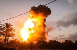 الاحتلال  يشن غارات جوية واسعة على قطاع غزة