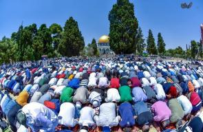 ربع مليون مصل ادو صلاة الجمعة في رحاب المسجد الأقصى المبارك