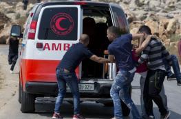 اصابة فتى بجراح حرجة بالرأس في مواجهات شرق رام الله