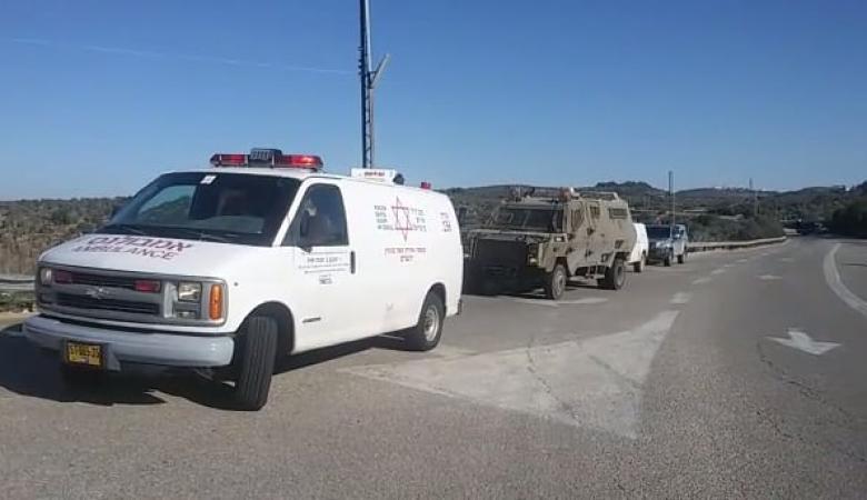 اصابة مستوطن بجراح خطيرة شمال شرق رام الله