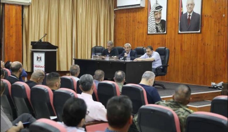 قلقيلية: اجتماع موسع للجنة الطوارئ العليا لمناقشة قضايا عدة