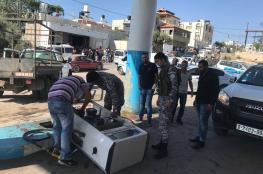 إغلاق محطة محروقات غير قانونية غرب رام الله ومصادرة 10500 لتر سولار وبنزين