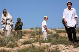 مستوطنون يعتدون على أراضي قرية قريوت