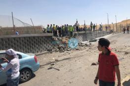17 إصابة بانفجار حافلة سياحية عند المتحف المصري الكبير
