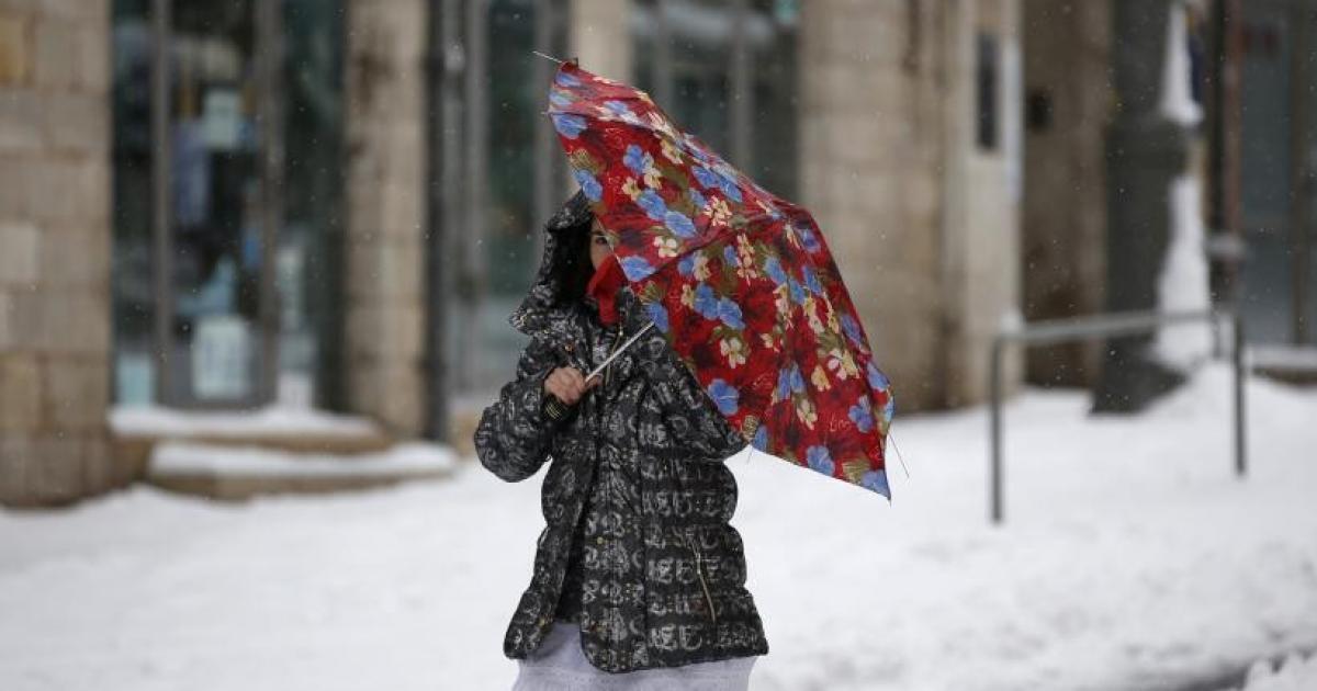 الارصاد الفلسطينية تتوقع هطول زخات من الثلوج على المرتفعات العالية
