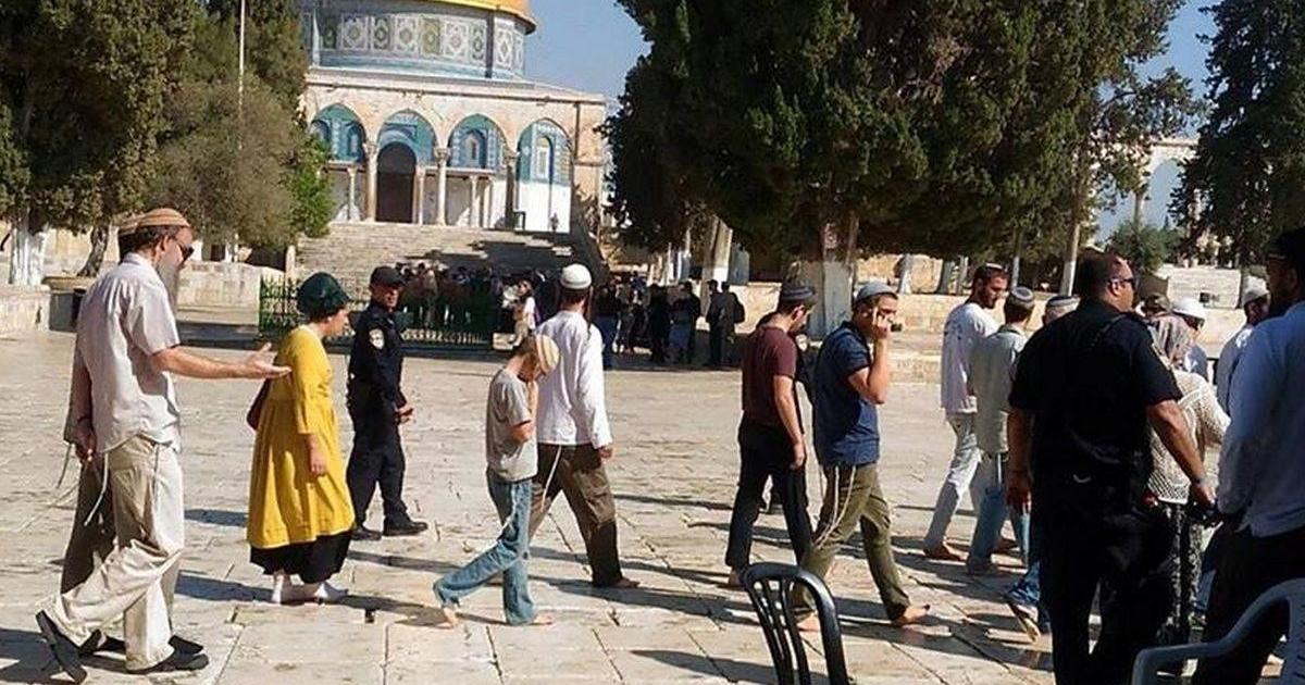 45 مستوطنا اقتحموا المسجد الاقصى المبارك