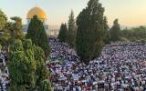 صلاة العيد في المسيجد الاقصى المبارك