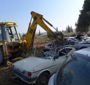 الشرطة تتلف 120 مركبة غير قانونية في نابلس