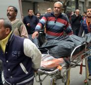 لحظة قنص منفذ حادث الاعتداء على كنسية جنوب القاهرة