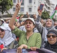 آلاف المغاربة يتظاهرون في الدار البيضاء دعماً لمسيرات العودة في غزة
