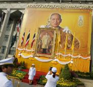 سرادق عزاء من الذهب وجنازة بـ90 مليون دولار لملك تايلند!