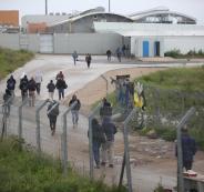 عمال عائدين من الاراضي المحتلة