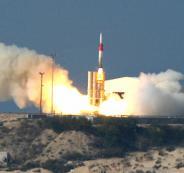 تجربة صاروخية امريكية اسرائيلية