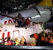 تحطم الطائرة التركية في اسطنبول
