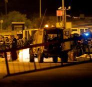 مركبة عسكرية اسرائيلية تدهس شابين برام الله