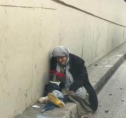 طرد مسنة الى الشارع في نابلس