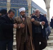 الاعتداء بالضرب على مدير عام المسجد الاقصى