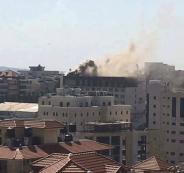 حريق جراند بارك رام الله