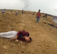 الجيش الاسرائيلي يقمع مسيرة العودة الكبرى