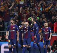اهداف برشلونة وانترميلان