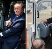 الزعيم الكوري الشمالي والشاحنات