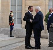 عباس وماكرون في فرنسا