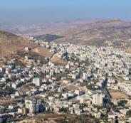 الاستيلاء على اراضي المواطنين في نابلس