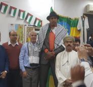 اطول رجل في العالم والكوفية