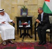 عباس واشتيه والسفير القطري