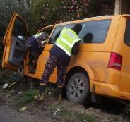 اصابات بانزلاق مركبة