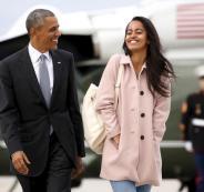 ظريف وخطف ابنة اوباما
