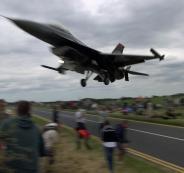 سقوط طائرة F16 تركية فوق ولاية نوشيهر وسط البلاد