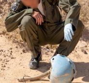 العثور على خوذة طيار اسرائيلي