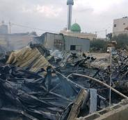 حريق في سوق خضار بيتا