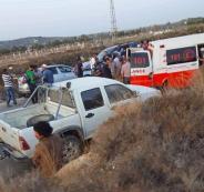 اصابة عمال فلسطينيين بحادث سير