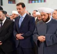 شار الاسد يؤدي صلاة العيد في مدينة حماة