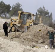 مصادرة اراضي الفلسطينيين في الجلمة